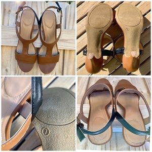 🤑2 Pair $12🤑 Avon Camel & Black Sandals 7